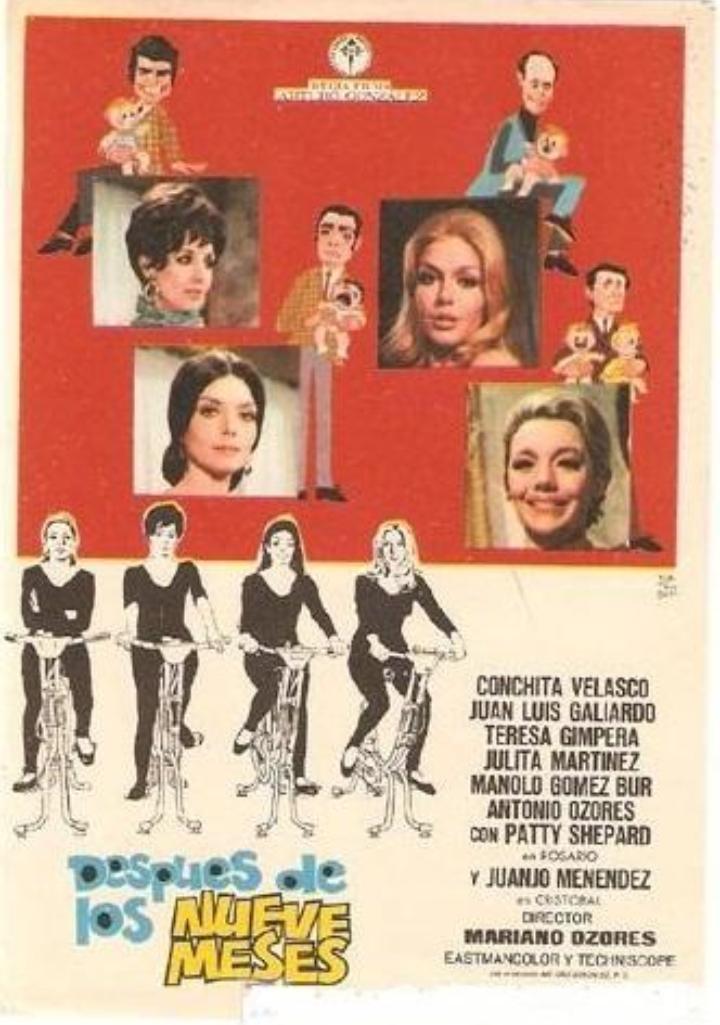 Teresa Gimpera, Julia Martínez, María Luisa Ponte, Patty Shepard, and Concha Velasco in Después de los nueve meses (1970)