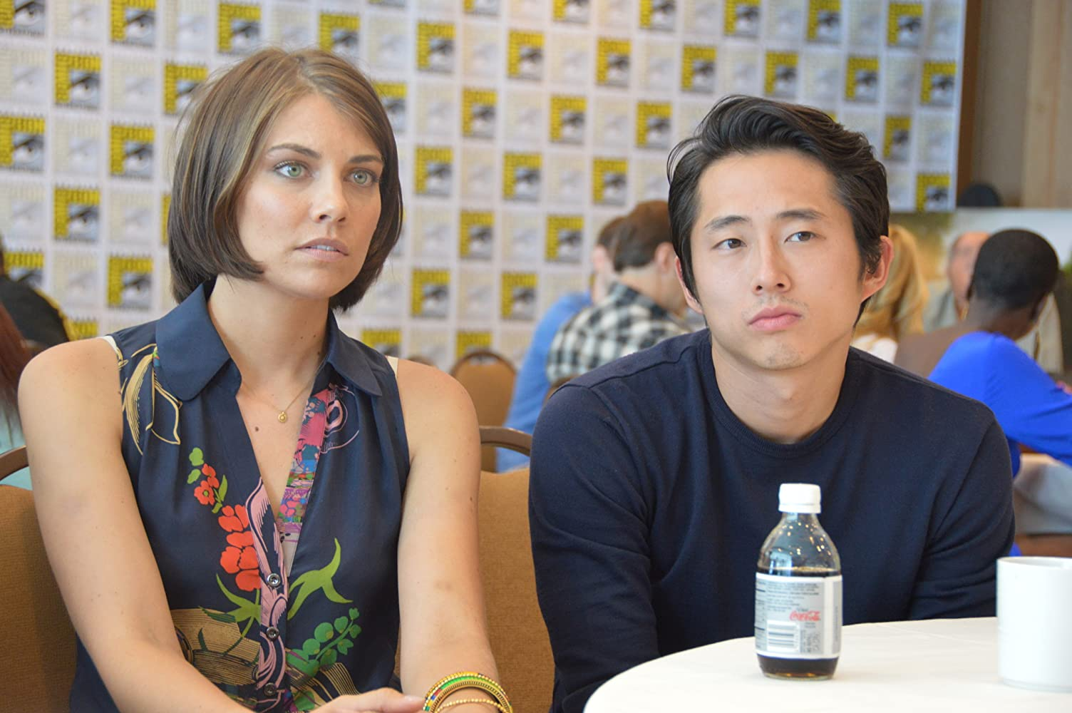 On-screen married lady, Lauren Cohan married in real life ...  |Steven Yeun And Lauren Cohan Engaged