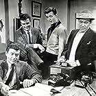 Edd Byrnes, Louis Quinn, Roger Smith, and Efrem Zimbalist Jr. in 77 Sunset Strip (1958)