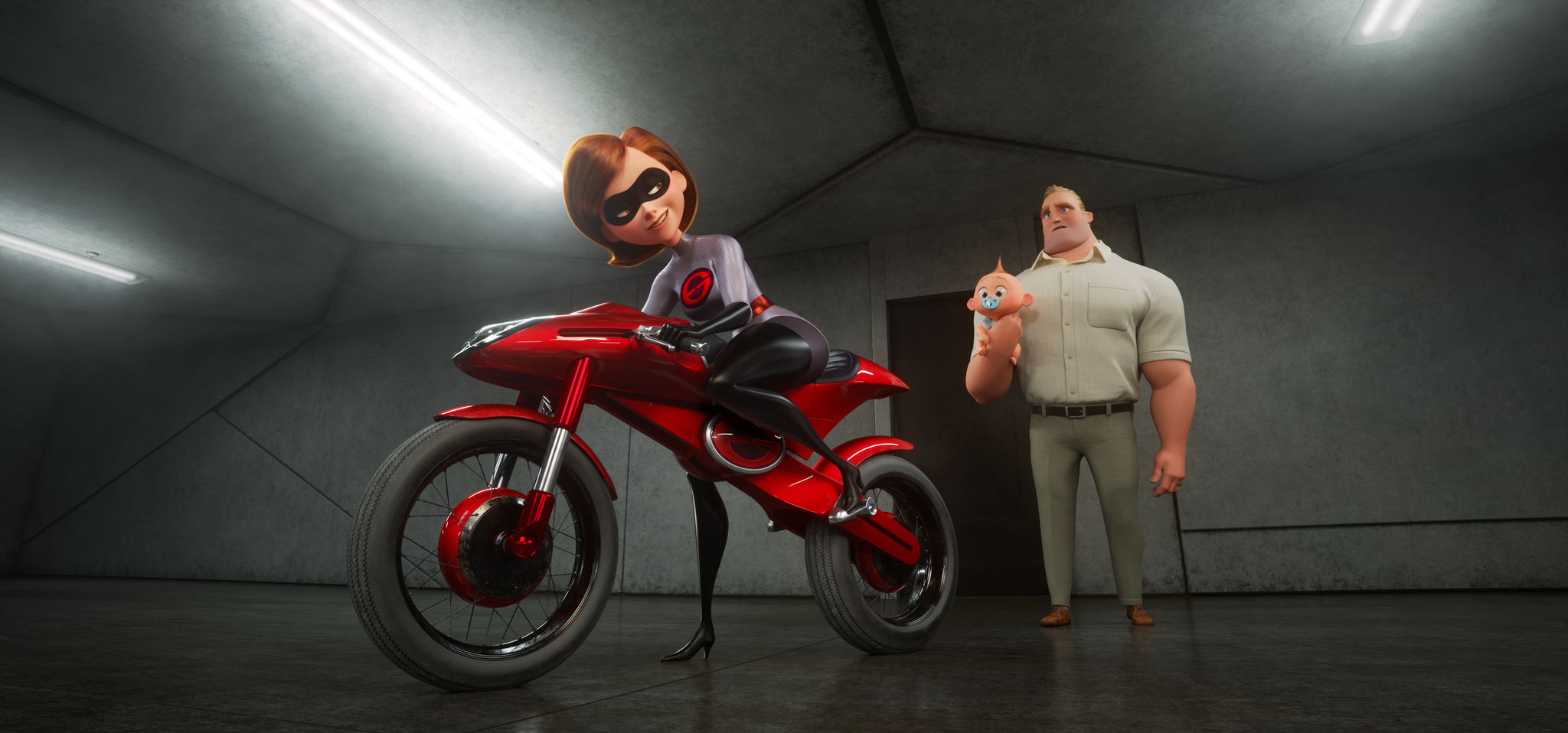 Holly Hunter, Craig T. Nelson, and Eli Fucile in Incredibles 2 (2018)