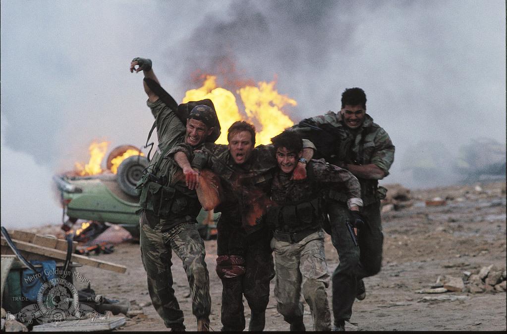 Charlie Sheen, Michael Biehn, Rick Rossovich, and Paul Sanchez in Navy Seals (1990)