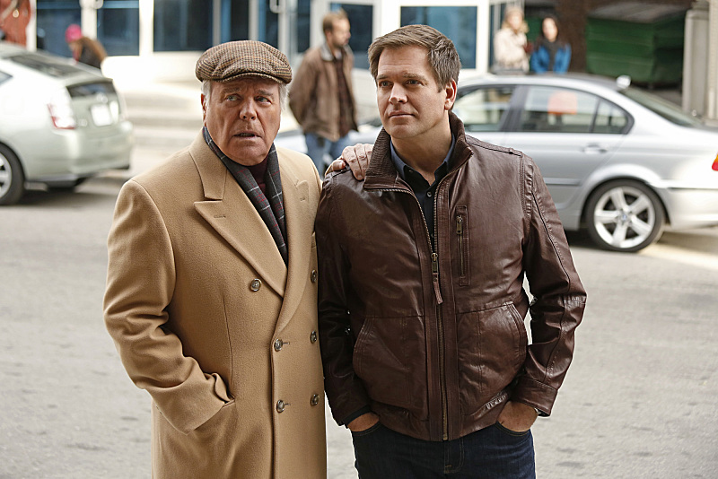 Robert Wagner and Michael Weatherly in NCIS Naval Criminal Investigative Service 2003
