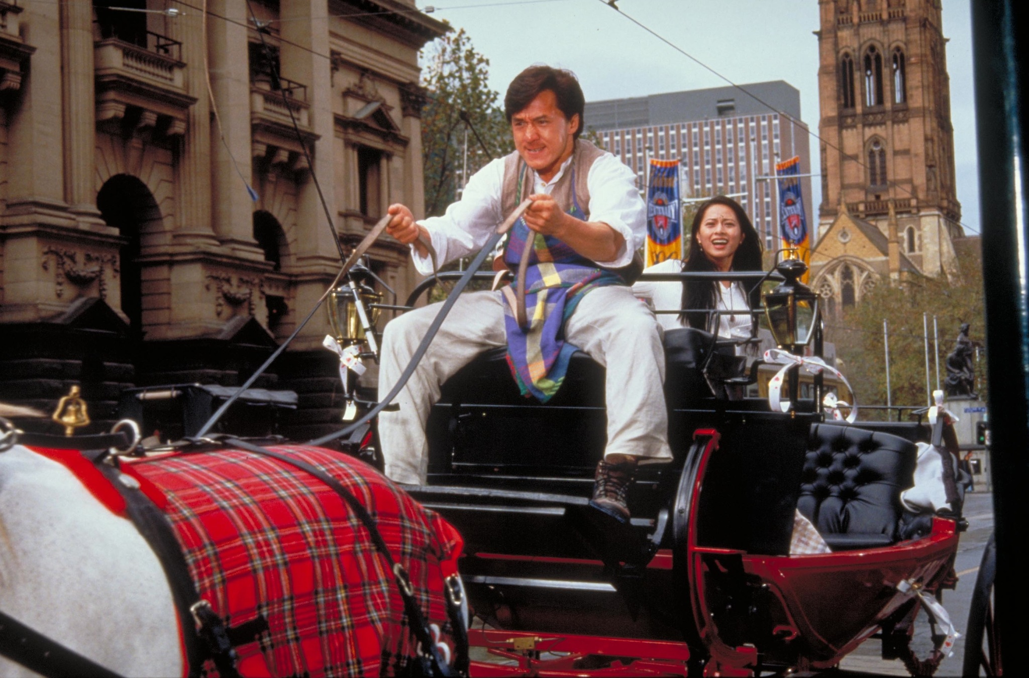 Jackie Chan and Miki Lee in Yat goh ho yan (1997)