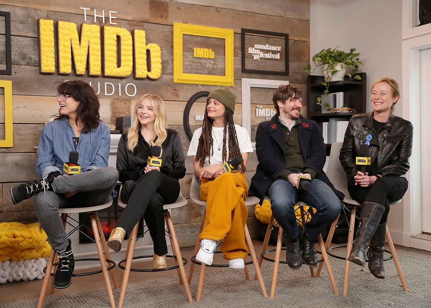 Jennifer Ehle, John Gallagher, Chloë Grace Moretz, Desiree Akhavan, and Sasha Lane at an event for The Miseducation of Cameron Post (2018)