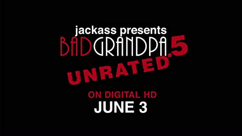 """Bad Grandpa .5 gives you a whole new perspective on the world of Irving Zisman with bonus scenes and pranks also featuring Spike Jonze as """"Gloria"""" and Catherine Keener as Irving's wife """"Ellie"""", plus a look at the evolution of Johnny Knoxville's naughty alter-ego, the makeup effects, and a behind-the-scenes peek at the idiocy it takes to make a hidden camera movie in public."""