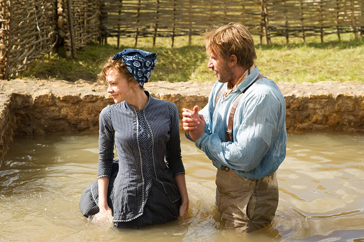 Matthias Schoenaerts and Carey Mulligan in Far from the Madding Crowd (2015)