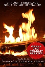 4K Fireplace Poster