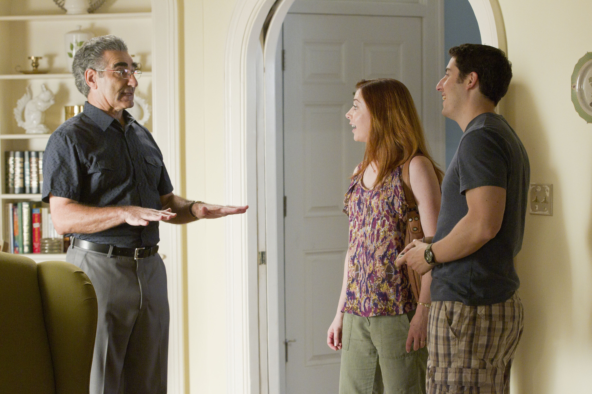 Jason Biggs, Alyson Hannigan, and Eugene Levy in American Reunion (2012)