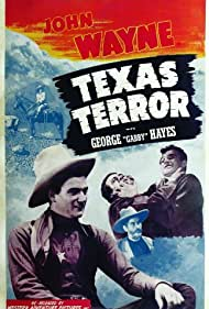 John Wayne, George 'Gabby' Hayes, and LeRoy Mason in Texas Terror (1935)