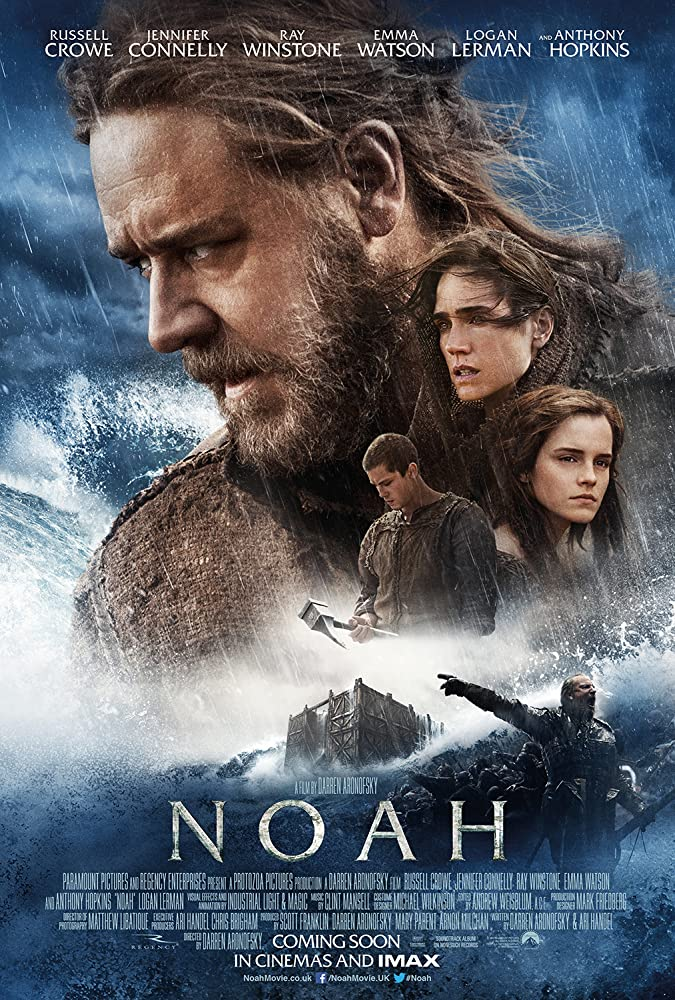 Jennifer Connelly, Russell Crowe, Logan Lerman, and Emma Watson in Noah (2014)