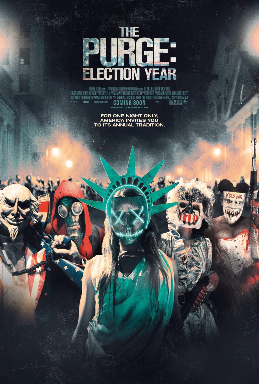 The Purge: Election Year (2016) Hindi Dubbed