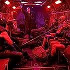 Pete Davidson, Nathan Fillion, Sean Gunn, Michael Rooker, Joel Kinnaman, Jai Courtney, Flula Borg, Margot Robbie, and Mayling Ng in The Suicide Squad (2021)