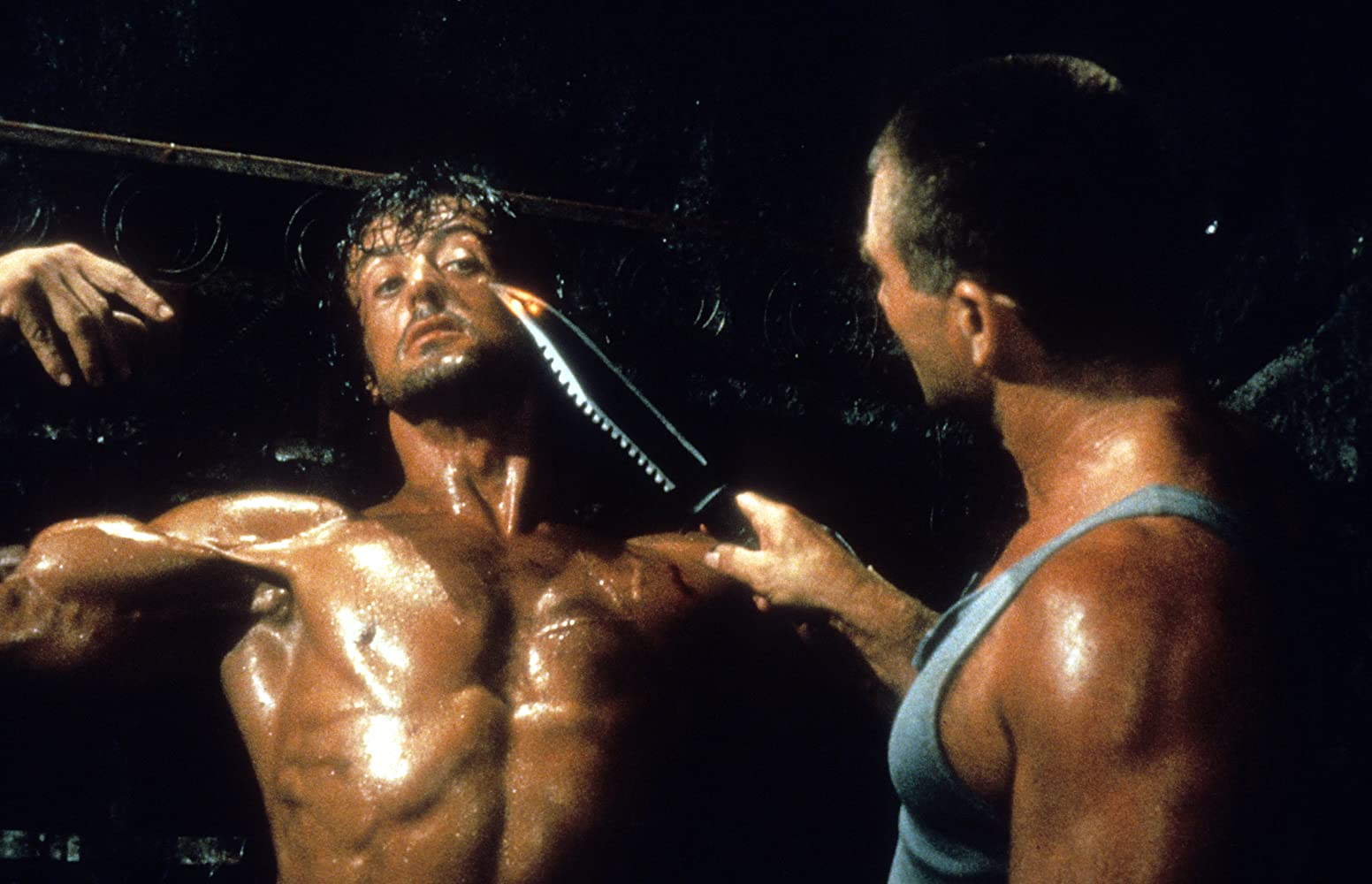 Sylvester Stallone and Voyo Goric in Rambo: First Blood Part II (1985)