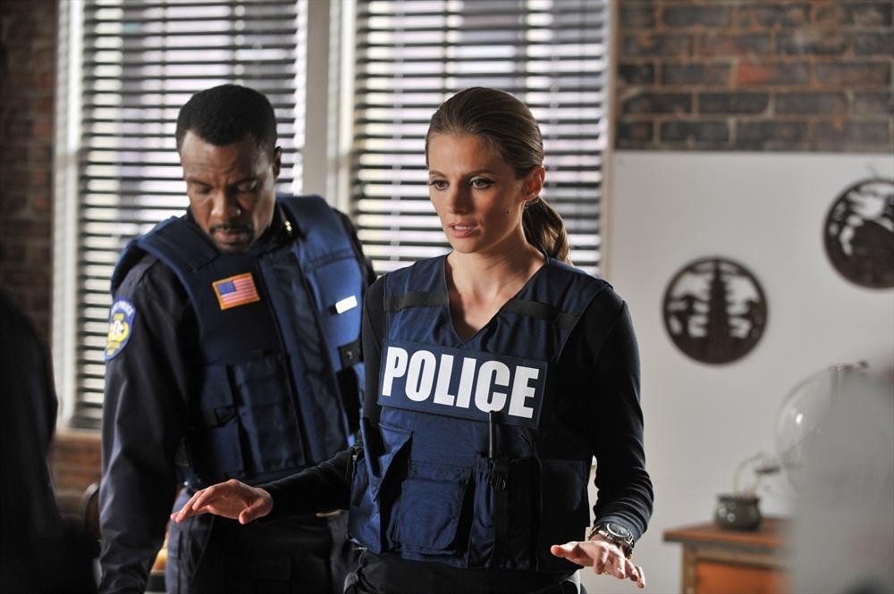 Allan Louis and Stana Katic in Castle (2009)