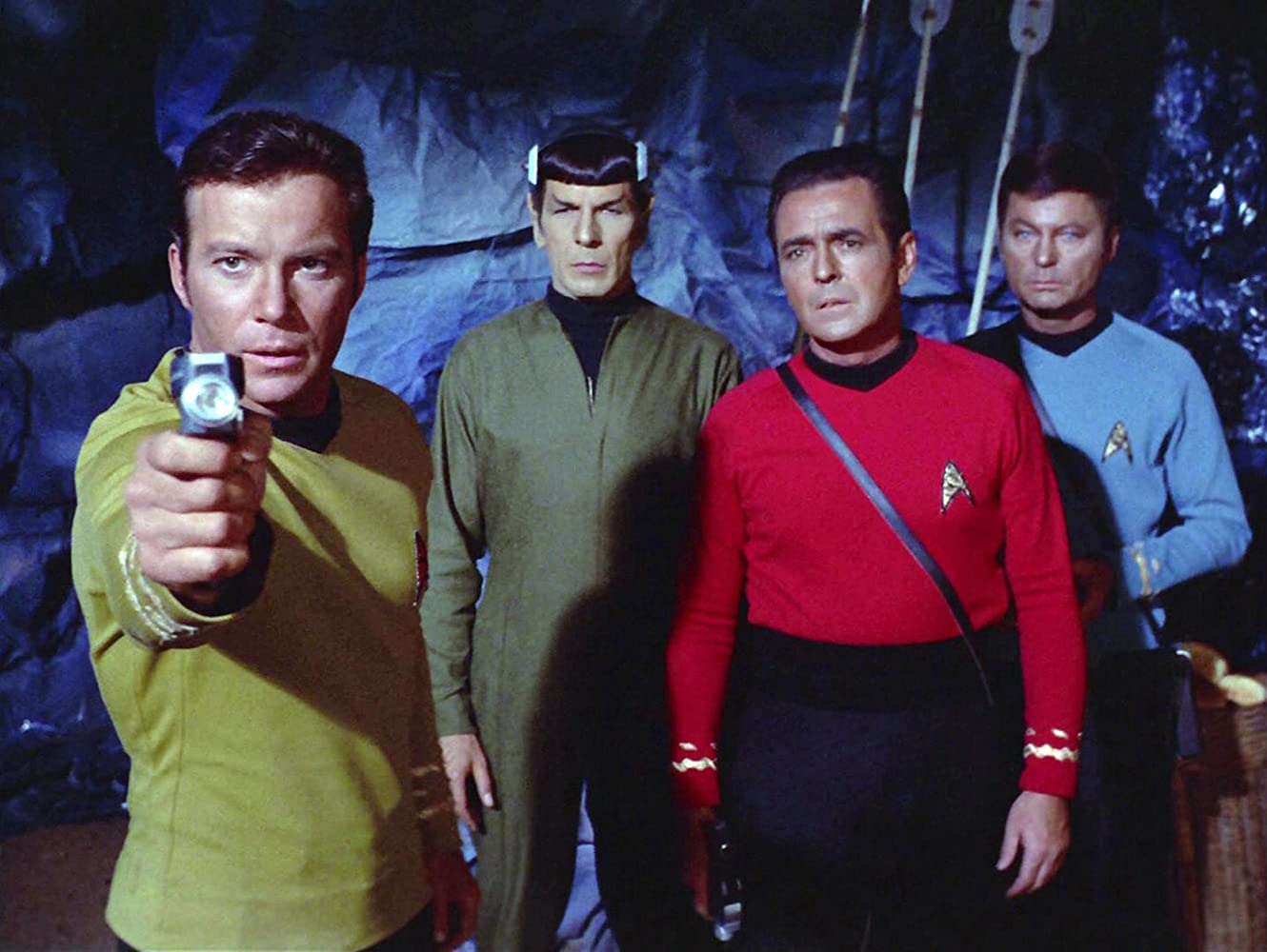 Leonard Nimoy William Shatner James Doohan and DeForest Kelley in Star Trek 1966