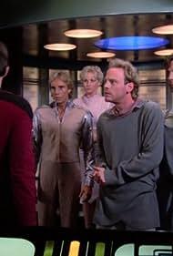 Jonathan Frakes, Merritt Butrick, Kimberley Farr, Richard Lineback, and Judson Scott in Star Trek: The Next Generation (1987)
