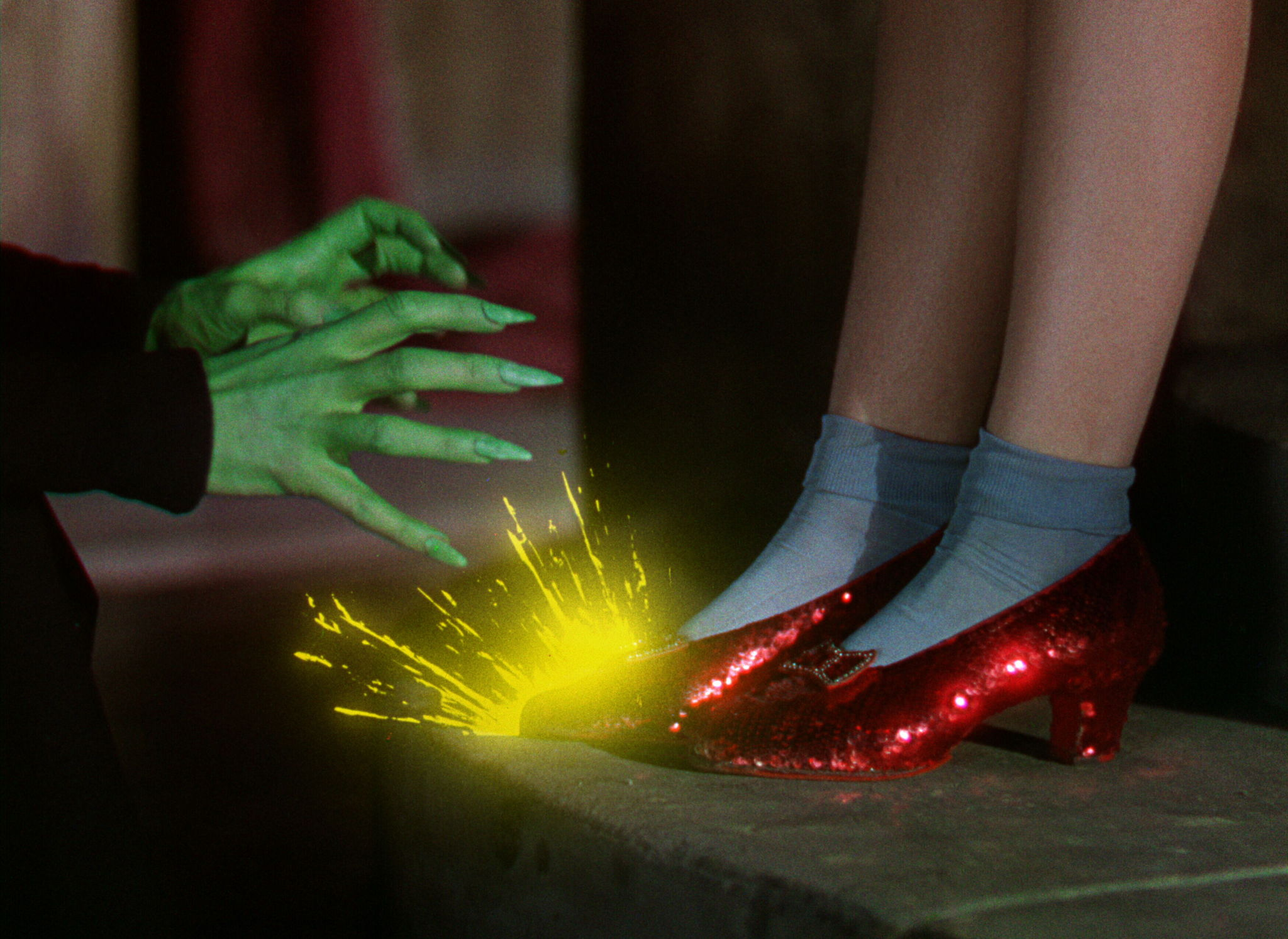 Judy Garland and Margaret Hamilton in The Wizard of Oz (1939)