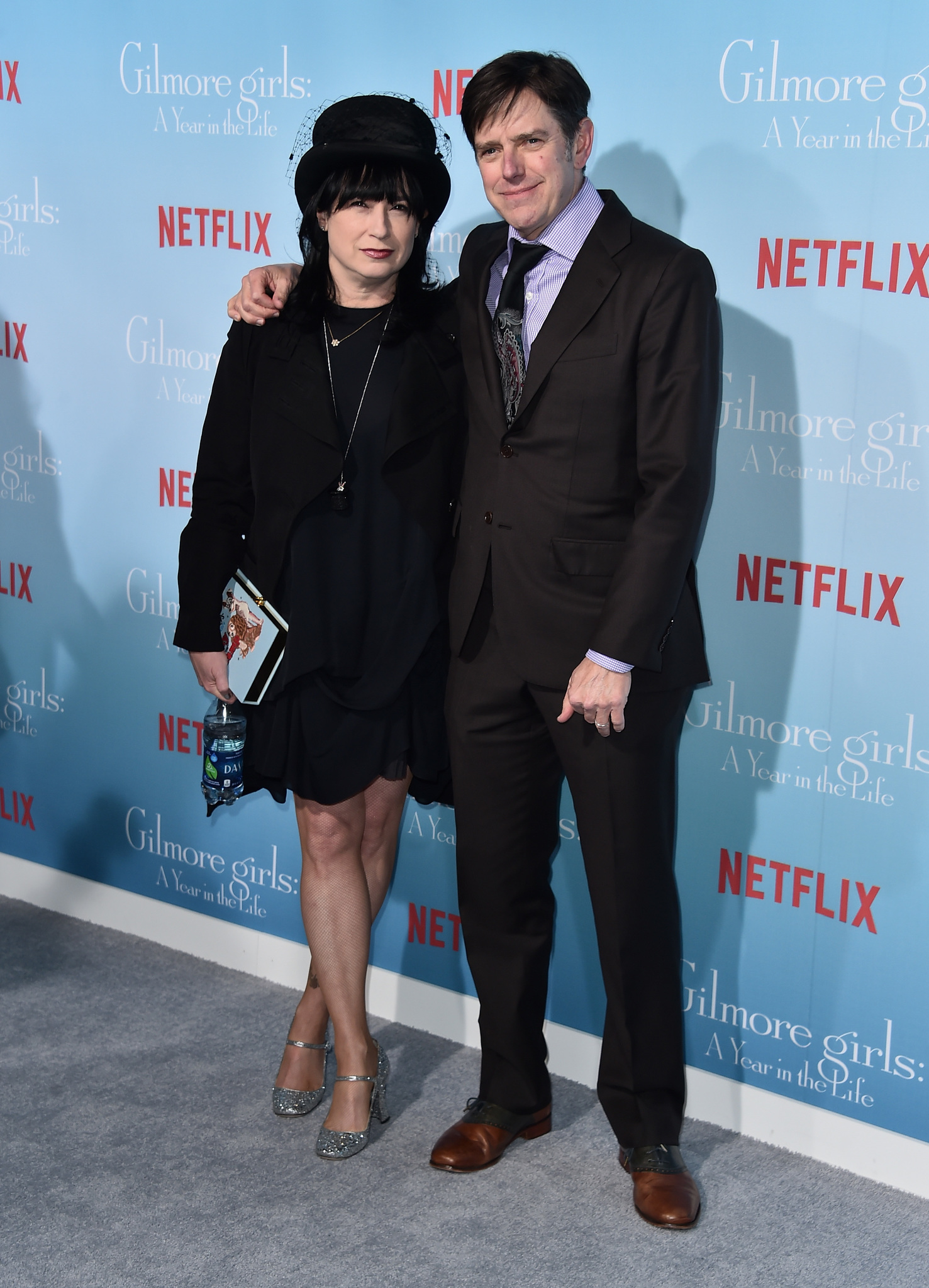 Daniel Palladino and Amy Sherman-Palladino at an event for Gilmore Girls: A Year in the Life (2016)