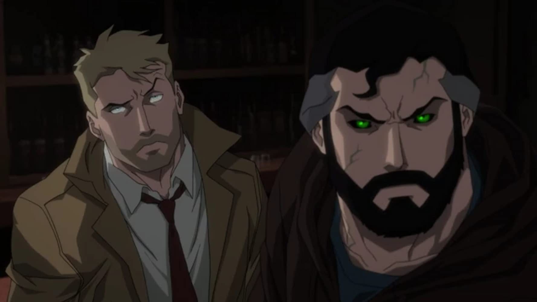 Jerry O'Connell and Matt Ryan in Justice League Dark: Apokolips War (2020)