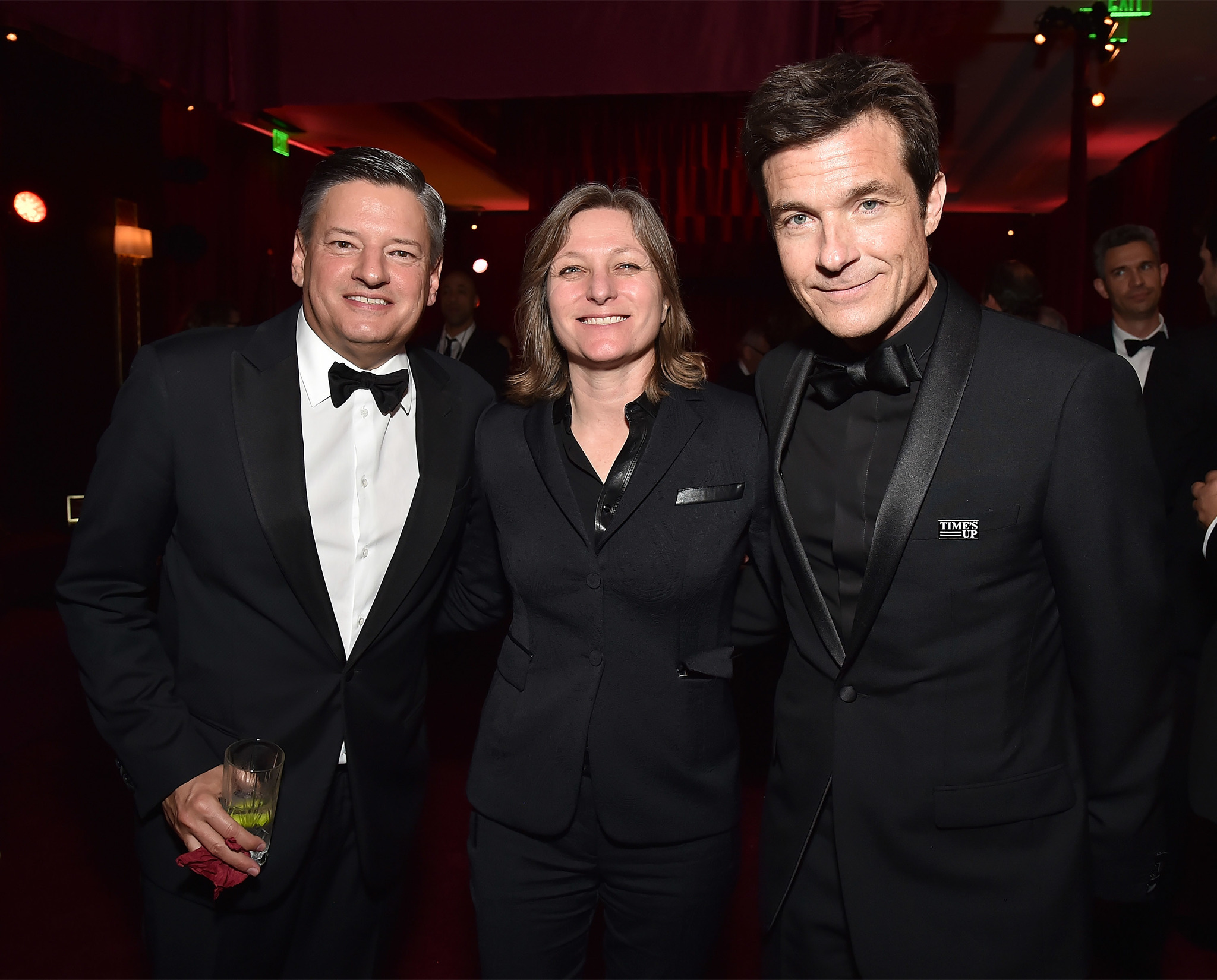 Jason Bateman, Ted Sarandos, and Cindy Holland at an event for The 75th Annual Golden Globe Awards 2018 (2018)