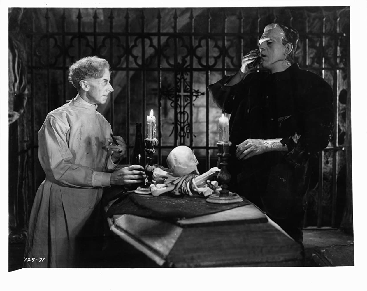 Boris Karloff and Ernest Thesiger in Bride of Frankenstein (1935)