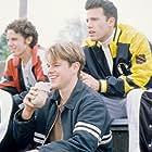 Ben Affleck, Matt Damon, Casey Affleck, and Cole Hauser in Good Will Hunting (1997)