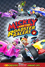 Bill Farmer, Tress MacNeille, Russi Taylor, Daniel Ross, and Bret Iwan in Mickey and the Roadster Racers (2017)