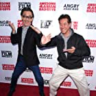 George Cheung and Peter Kwong at an event for Awesome Asian Bad Guys (2014)