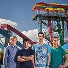 James Buckley, Blake Harrison, Simon Bird, and Joe Thomas in The Inbetweeners 2 (2014)