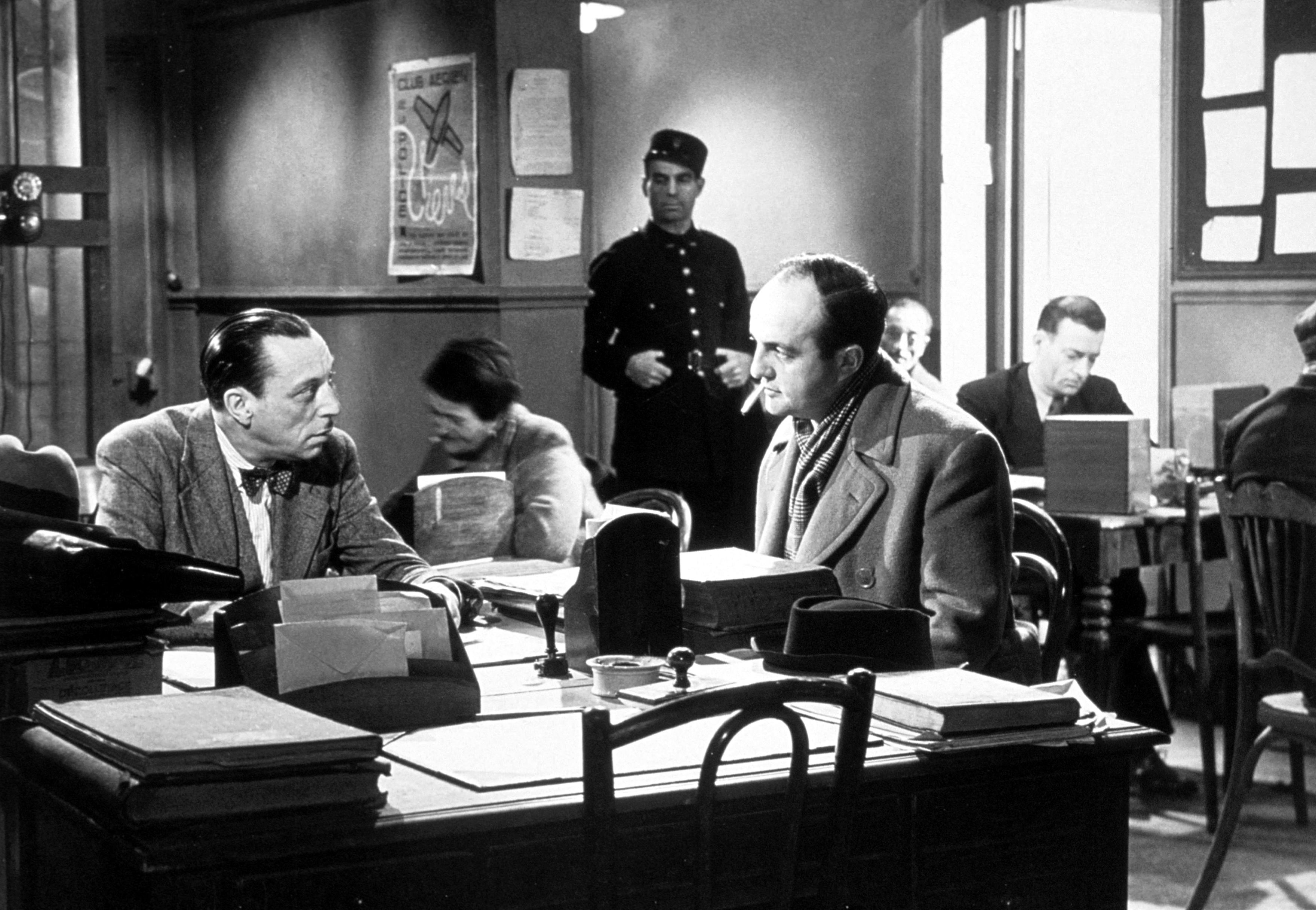 Bernard Blier and Louis Jouvet in Quai des Orfèvres (1947)