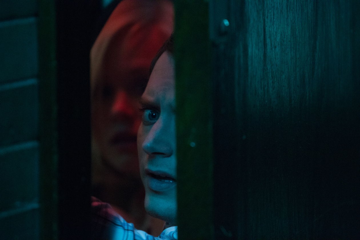 Elijah Wood and Alison Pill in Cooties (2014)