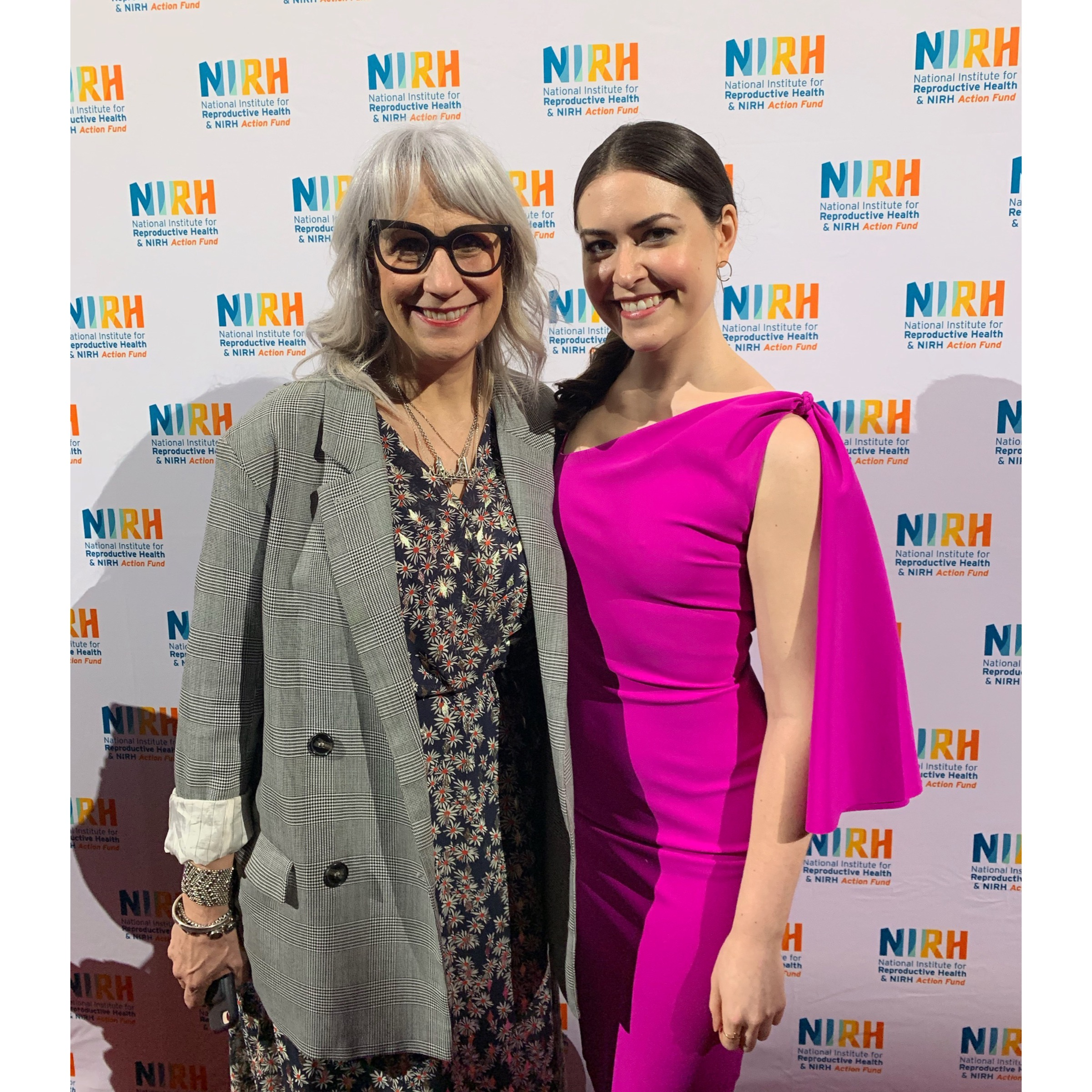 Cait Cortelyou at an event for the National Institute for Reproductive Health