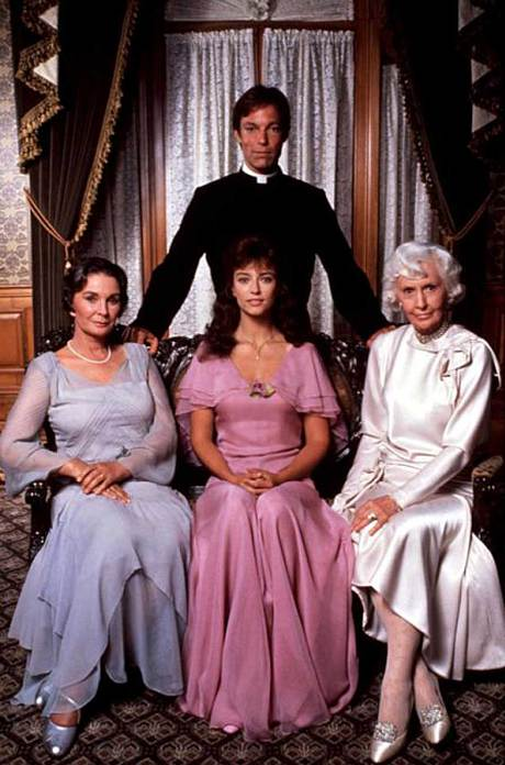 Richard Chamberlain, Jean Simmons, Barbara Stanwyck, and Rachel Ward in The Thorn Birds (1983)