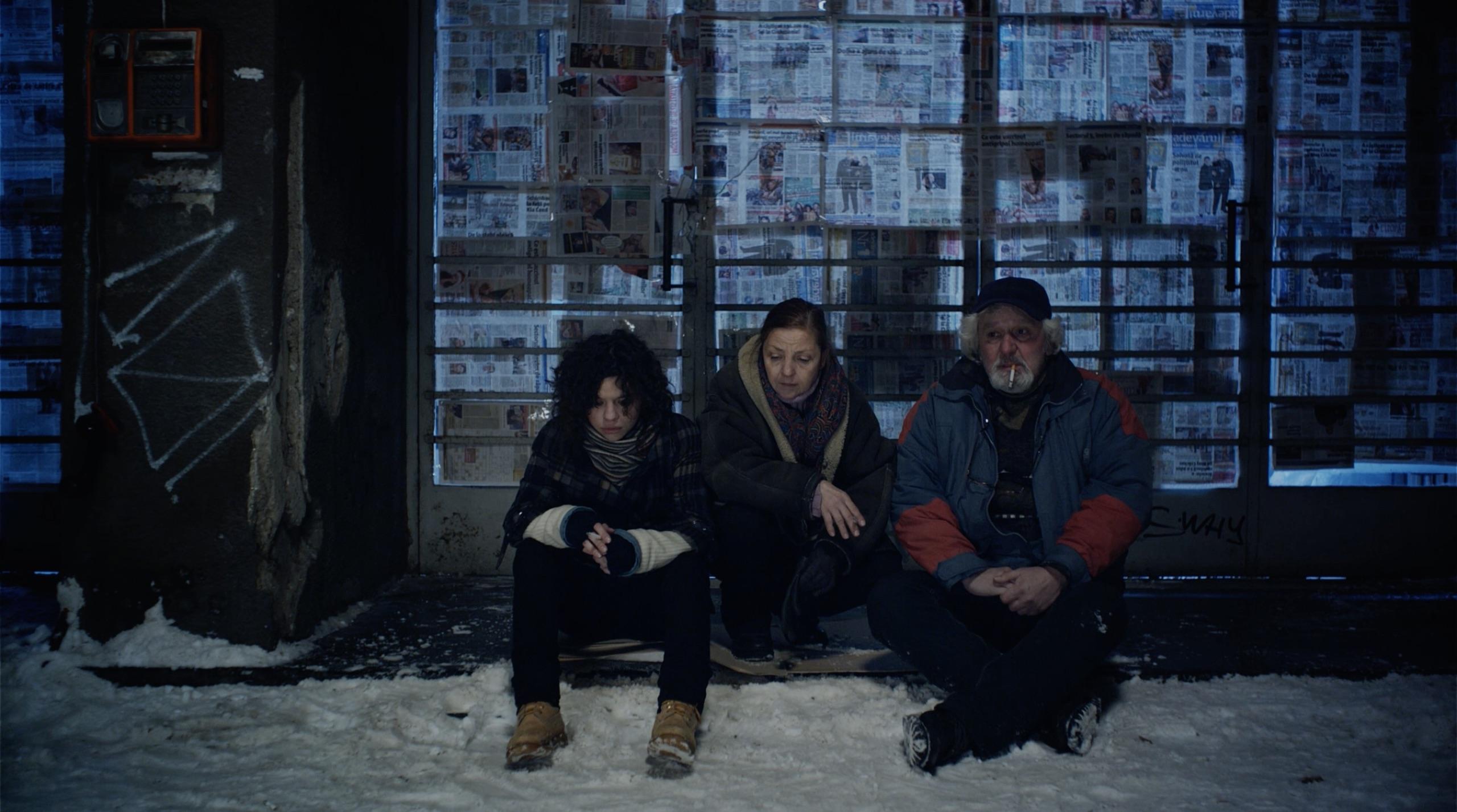 Dan Condurache, Rodica Negrea, and Madalina Craiu in Blu (2012)