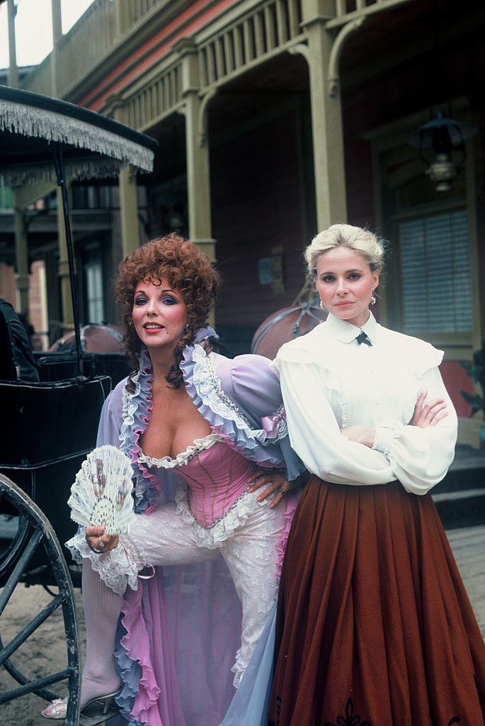 Joan Collins and Priscilla Barnes in The Wild Women of Chastity Gulch (1982)