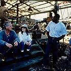 Lance Henriksen, Ernie Hudson, and Gale Anne Hurd in No Escape (1994)