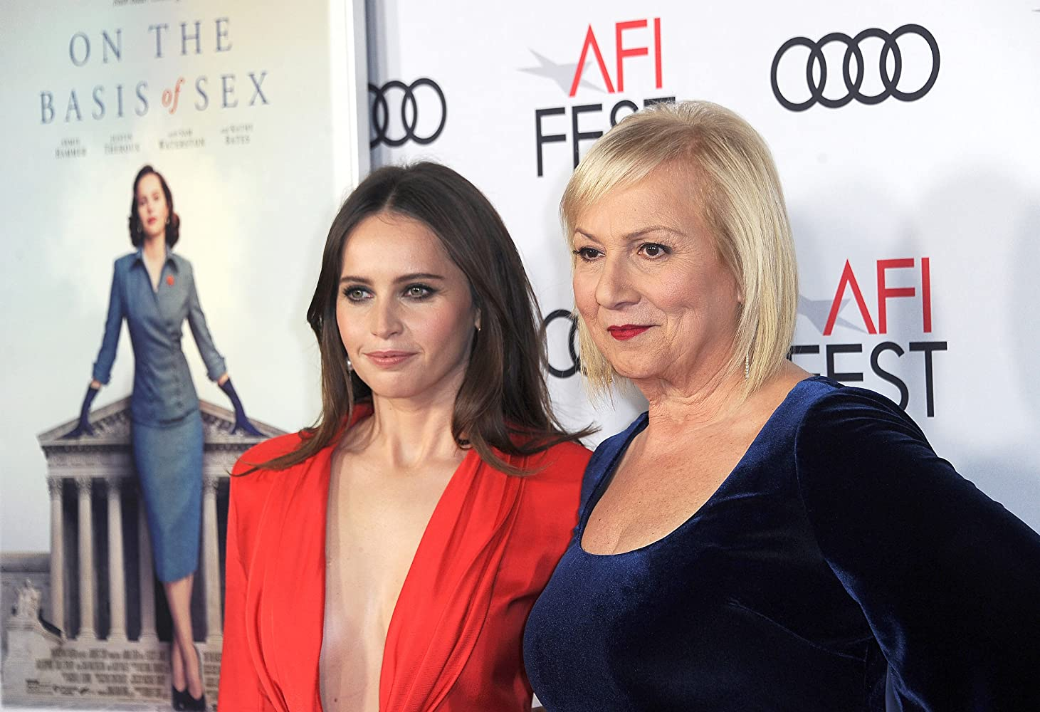 Mimi Leder and Felicity Jones at an event for On the Basis of Sex (2018)