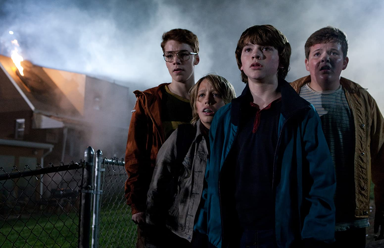 Joel Courtney, Ryan Lee, Gabriel Basso, and Riley Griffiths in Super 8 (2011)