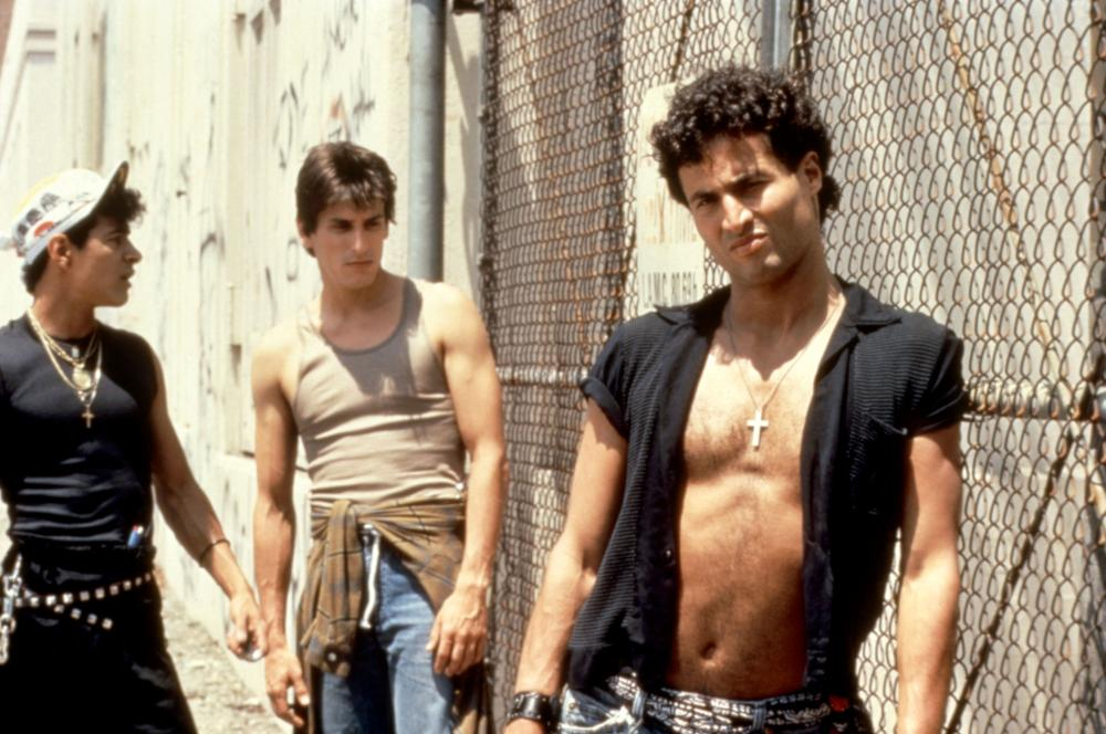 Panchito Gómez, Paul Mones, and Michael Wyle in Tuff Turf (1985)