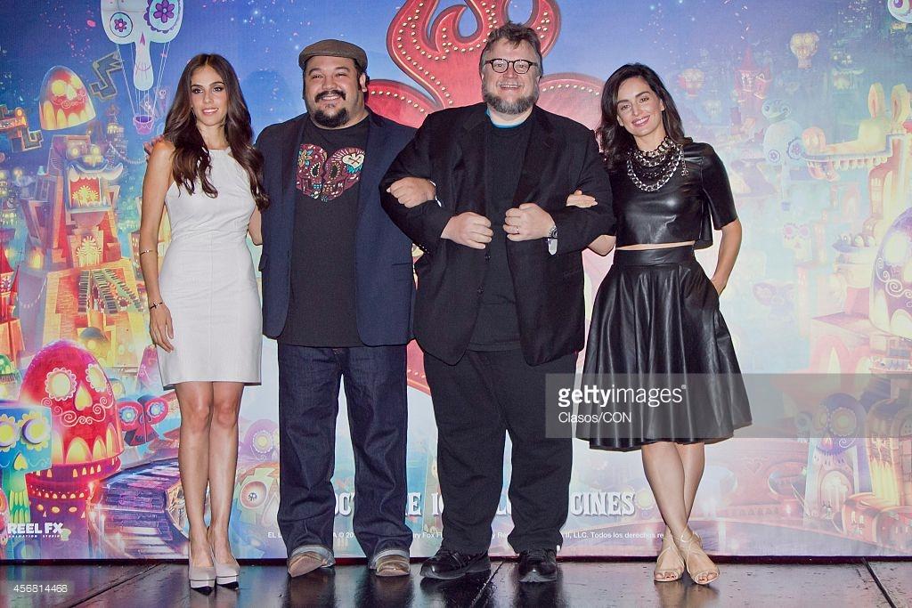 Ana de la Reguera, Guillermo del Toro, Sandra Echeverría, and Jorge R. Gutiérrez in The Book of Life (2014)