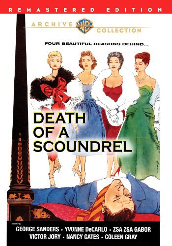 Yvonne De Carlo, Zsa Zsa Gabor, George Sanders, Nancy Gates, and Coleen Gray in Death of a Scoundrel (1956)