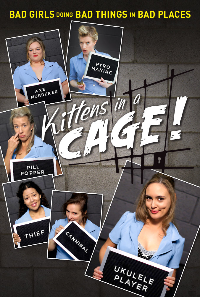 Official poster for Kittens in a Cage. Directed by Jillian Armenante.