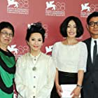 Ann Hui, Deannie Ip, Andy Lau, and Hailu Qin at an event for Tou ze (2011)