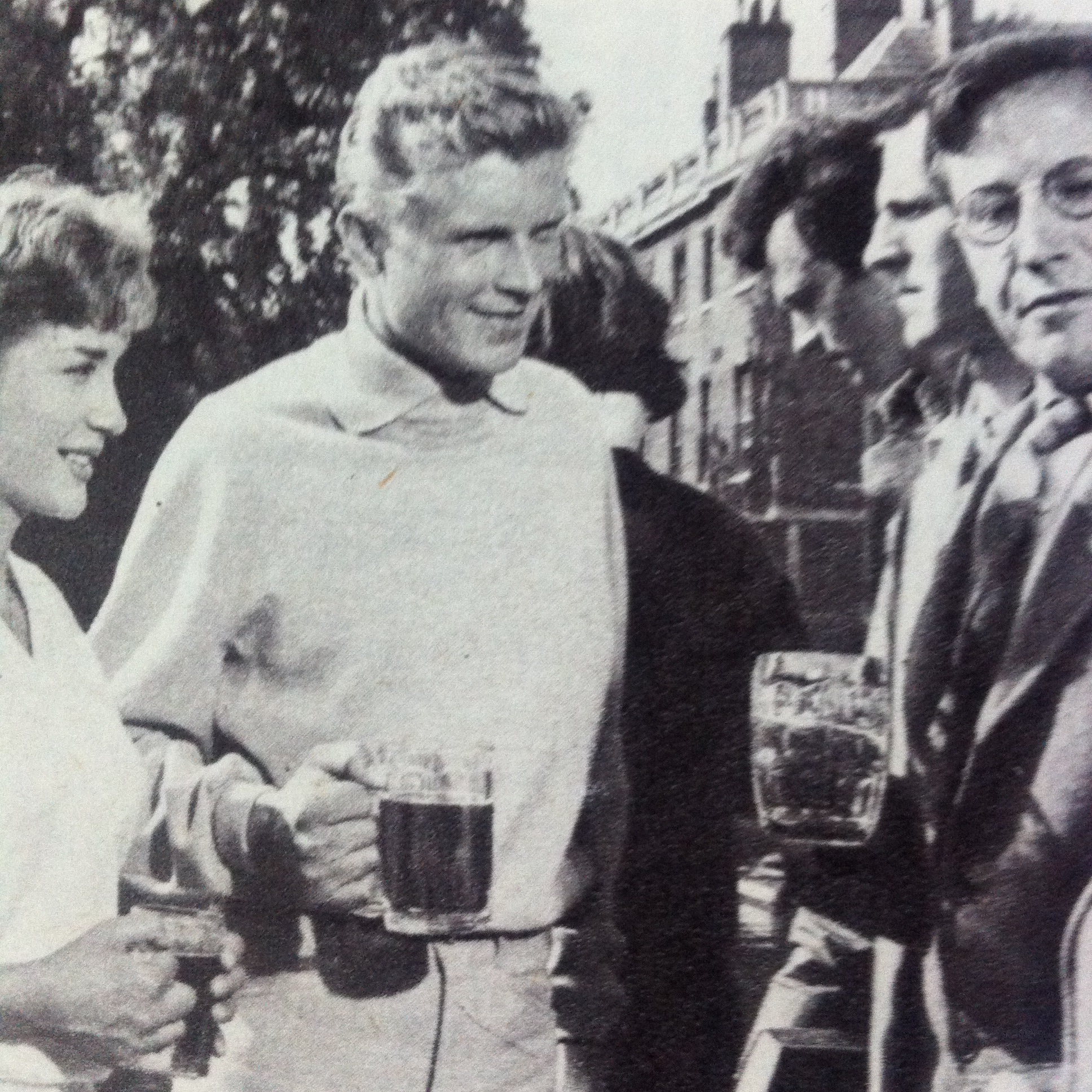 Eric Barker, Hardy Krüger, and Sylvia Syms in Bachelor of Hearts (1958)