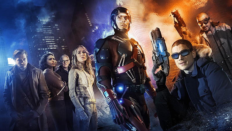 Victor Garber, Wentworth Miller, Dominic Purcell, Brandon Routh, Caity Lotz, Arthur Darvill, and Ciara Renée in Legends of Tomorrow (2016)