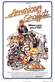 Ron Howard, Richard Dreyfuss, Candy Clark, Paul Le Mat, and Cindy Williams in American Graffiti (1973)