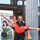 Actors Mark Killeen and Amy-Joyce Hastings celebrate the World Premiere of 'The Callback Queen' at Event: 25th Galway Film Fleadh.