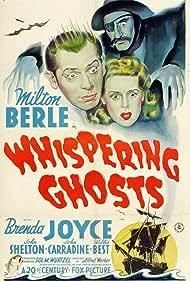 Milton Berle, John Carradine, and Brenda Joyce in Whispering Ghosts (1942)
