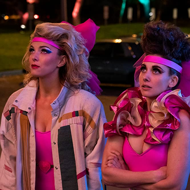 Alison Brie and Betty Gilpin in GLOW (2017)