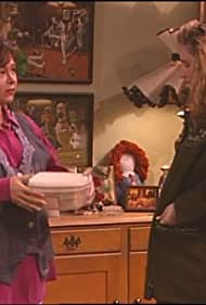 Roseanne Barr and Mara Hobel in Roseanne (1988)